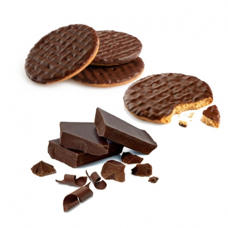 BiscoSnack Ricoperti di Cioccolato Fondente EthicalFit - Biscotti proteici per perdere peso